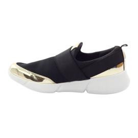 McKey Sportowe buty softshell czarne złote 2