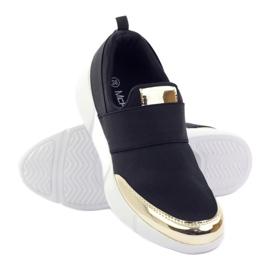 McKey Sportowe buty softshell czarne złote 3