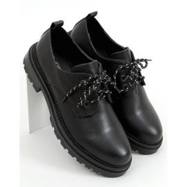 Mokasyny sznurowane czarne 9586 Black 1