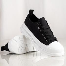 SHELOVET Tekstylne Trampki Fashion czarne 1