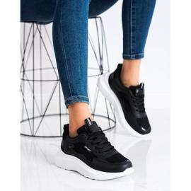 SHELOVET Buty Sportowe Na Platformie czarne 1