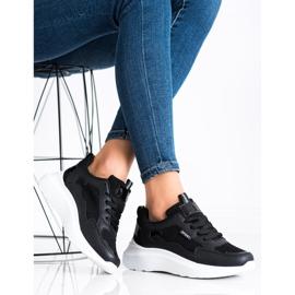 SHELOVET Buty Sportowe Na Platformie czarne 2