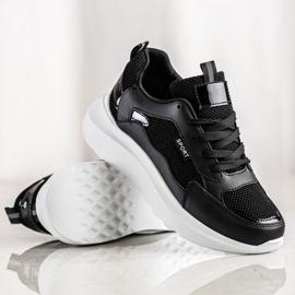 SHELOVET Buty Sportowe Na Platformie czarne 3