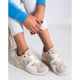 SHELOVET Stylowe Sneakersy beżowy 2