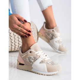 SHELOVET Stylowe Sneakersy beżowy 1