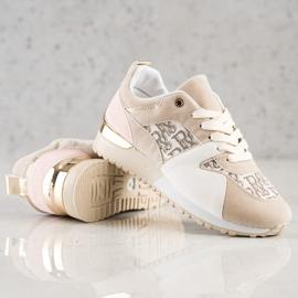 SHELOVET Stylowe Sneakersy beżowy 3