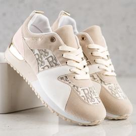 SHELOVET Stylowe Sneakersy beżowy 4