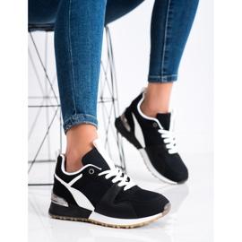 SHELOVET Czarne Sportowe Sneakersy 3