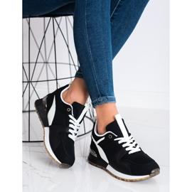 SHELOVET Czarne Sportowe Sneakersy 1