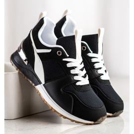 SHELOVET Czarne Sportowe Sneakersy 2