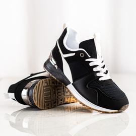 SHELOVET Czarne Sportowe Sneakersy 4