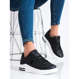 SHELOVET Casualowe Czarne Sneakersy 3