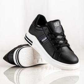 SHELOVET Casualowe Czarne Sneakersy 1