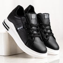 SHELOVET Casualowe Czarne Sneakersy 2