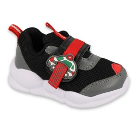 Befado obuwie dziecięce  516P096 czarne czerwone 2