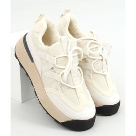 Buty sportowe ocieplane beżowe BL252P Beige beżowy 1