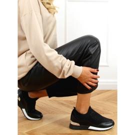 Buty sportowe skarpetkowe czarne AD-359 Black 2
