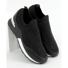 Buty sportowe skarpetkowe czarne AD-359 Black 1