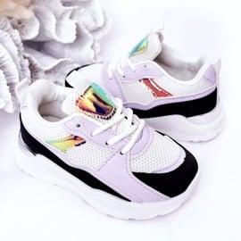 Dziecięce Sportowe Buty Sneakersy Czarno-Fioletowe Game Time białe czarne 4