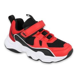 Befado obuwie dziecięce  516Y068 czarne czerwone 1