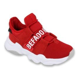 Befado obuwie dziecięce  516Y064 białe czerwone 1