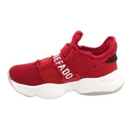 Befado obuwie dziecięce  516Y064 białe czerwone 2