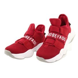 Befado obuwie dziecięce  516Y064 białe czerwone 3