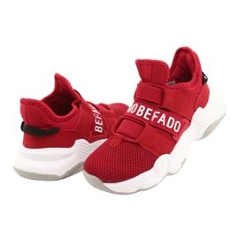 Befado obuwie dziecięce  516Y064 białe czerwone 4
