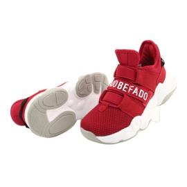 Befado obuwie dziecięce  516Y064 białe czerwone 5
