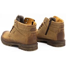 ABIS Ocieplane buty męskie 197 brązowe 7