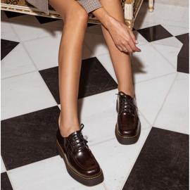 Marco Shoes Mokasyny Chiara ze skóry przecieranej czarne czerwone 8
