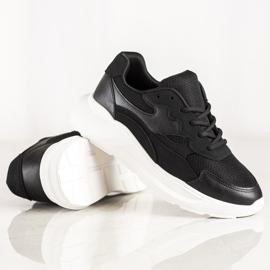 SHELOVET Casualowe Czarne Sneakersy 4