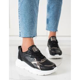 SHELOVET Sneakersy Na Platformie czarne 4