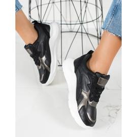 SHELOVET Sneakersy Na Platformie czarne 1