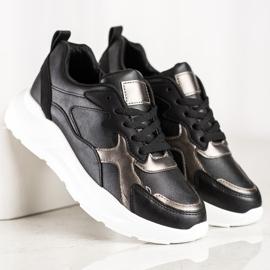SHELOVET Sneakersy Na Platformie czarne 2