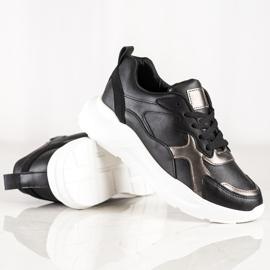 SHELOVET Sneakersy Na Platformie czarne 3