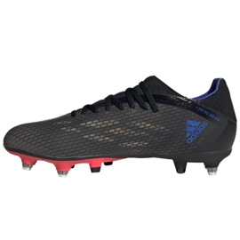 Buty piłkarskie adidas X Speedflow.3 Sg M GZ2840 wielokolorowe szare 2