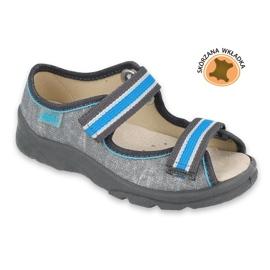 Befado obuwie dziecięce  869X157 niebieskie szare 2