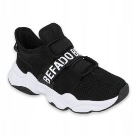 Befado obuwie dziecięce  516Y066 białe czarne 1