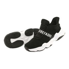 Befado obuwie dziecięce  516Y066 białe czarne 3