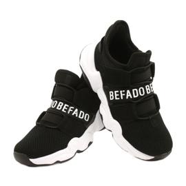 Befado obuwie dziecięce  516Y066 białe czarne 4