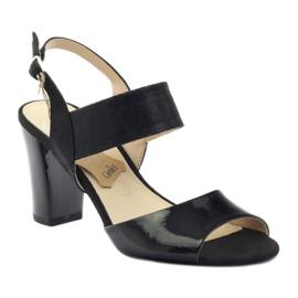 Caprice sandały buty damskie 28307 czarne 1