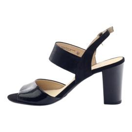 Caprice sandały buty damskie 28307 czarne 2