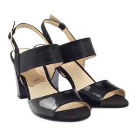 Caprice sandały buty damskie 28307 czarne 4