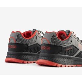 Big Star Szare dziecięce sneakersy sportowe Grenier czarne 2