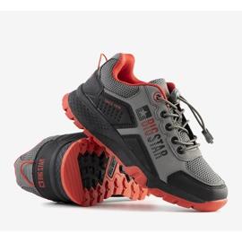 Big Star Szare dziecięce sneakersy sportowe Grenier czarne 3