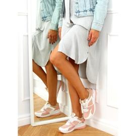 Buty sportowe na koturnie wielokolorowe AD-353 Pink różowe 3