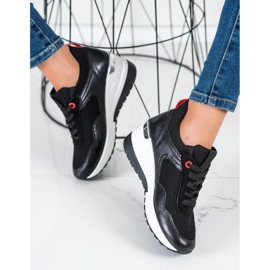 SHELOVET Wsuwane Sneakersy Z Siateczką czarne 1