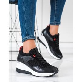 SHELOVET Wsuwane Sneakersy Z Siateczką czarne 4