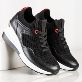 SHELOVET Wsuwane Sneakersy Z Siateczką czarne 2